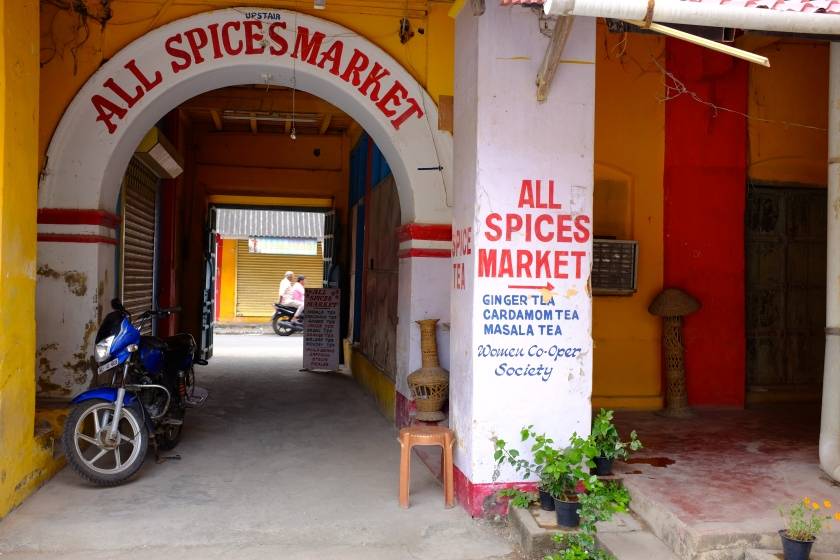 One of the few spice shops open