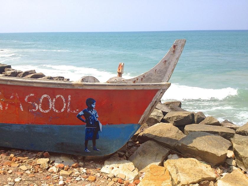 Graffiti artist Tona, Varkala, Kerala