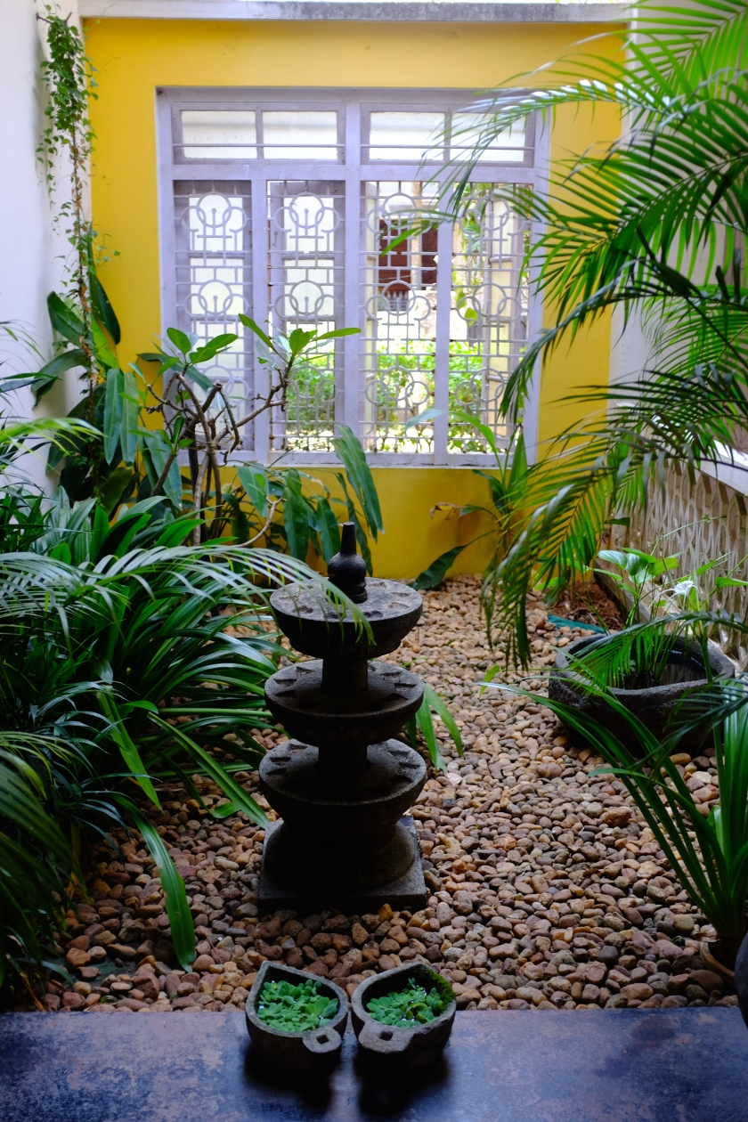 Inside courtyard at Sui House