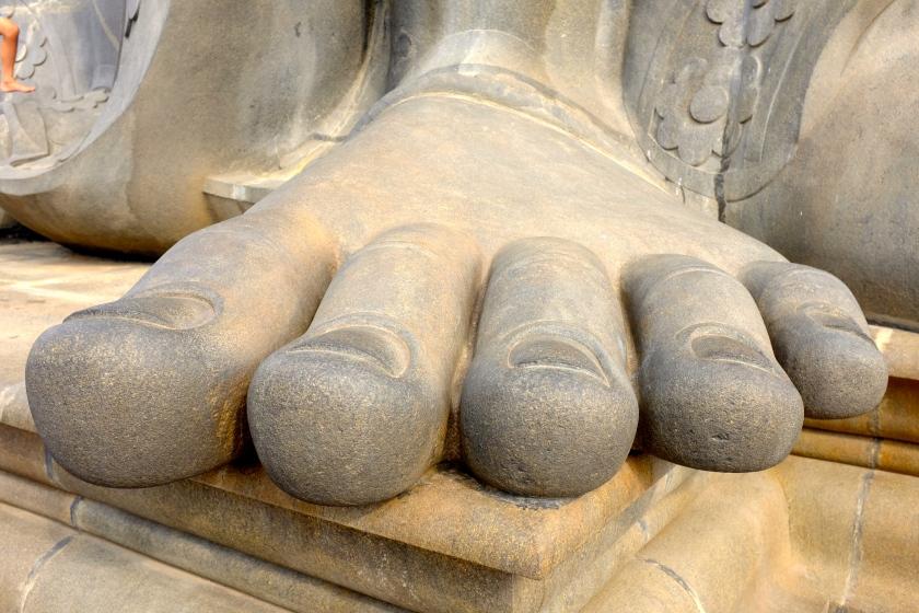 Toes of Thiruvalluvar Statue