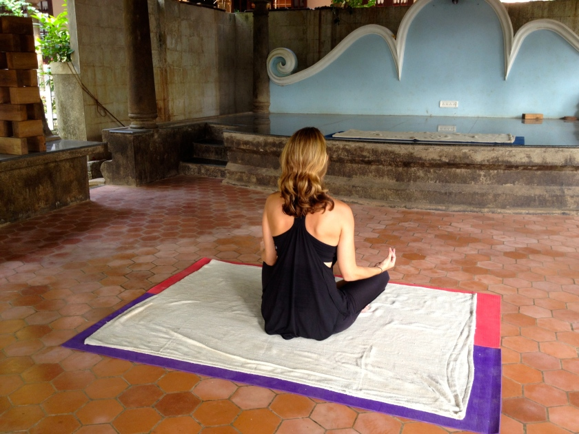 The yoga and meditation space