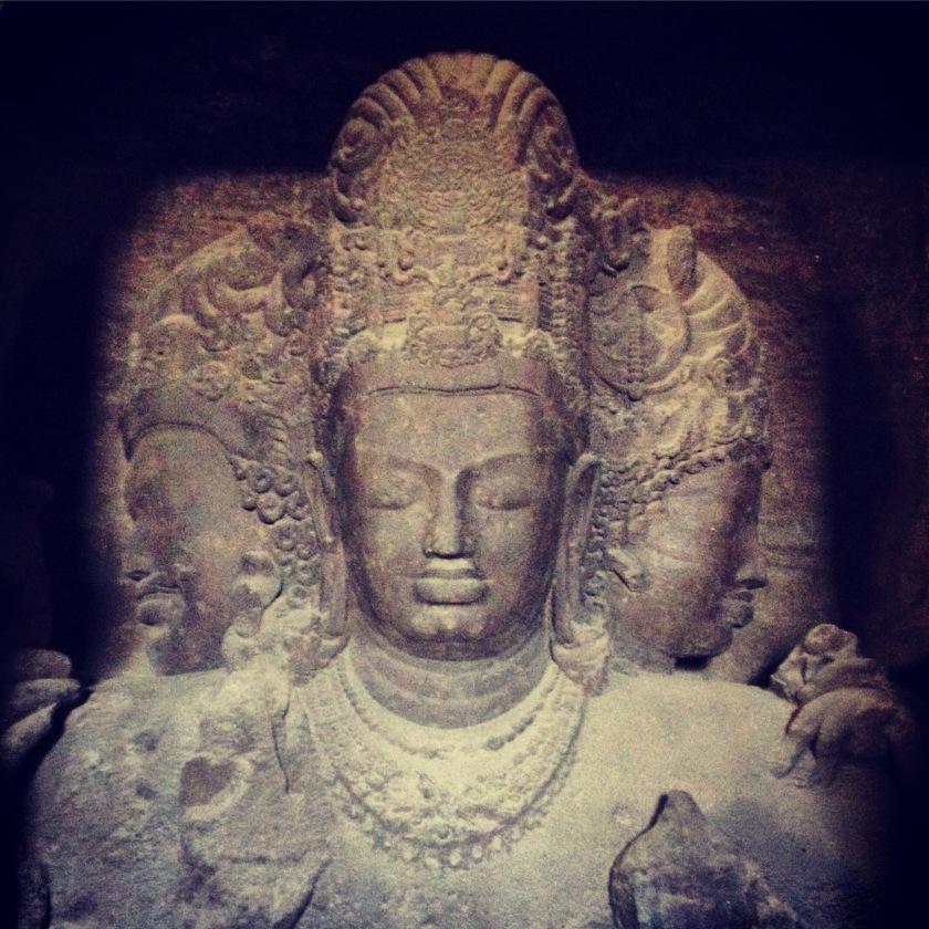 Shiva On Elephanta Island